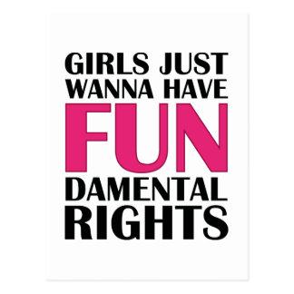 Girls Just Wanna Have Fun Postcard