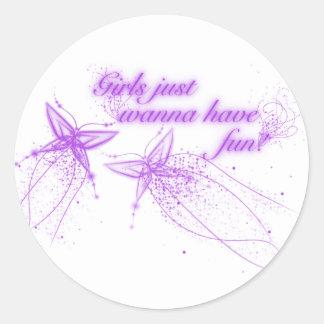 Girls Just Wanna Have Fun! Stickers