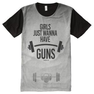 Girls just wanna have guns All-Over print T-Shirt