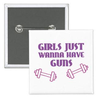 Girls Just Wanna Have Guns Pinback Buttons