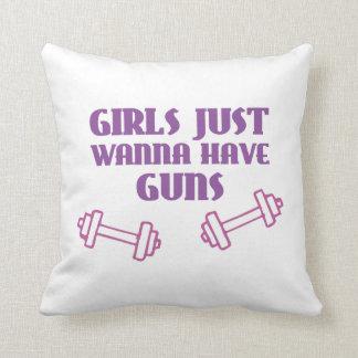 Girls Just Wanna Have Guns Pillows