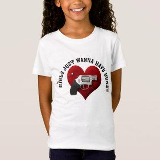 Girls Just Wanna Have Guns (girls sizes) T-Shirt