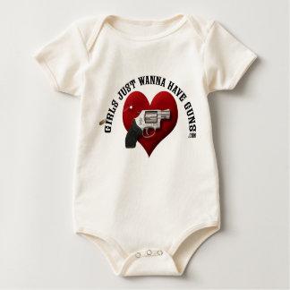 Girls Just Wanna Have Guns (infant) Baby Bodysuits