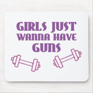 Girls Just Wanna Have Guns Mousepads