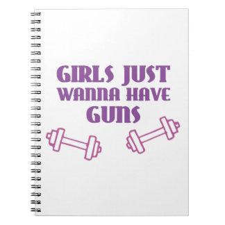 Girls Just Wanna Have Guns Notebooks