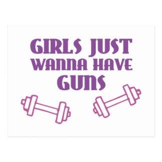 Girls Just Wanna Have Guns Postcard