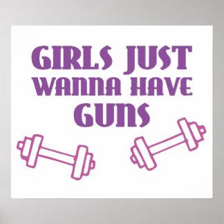 Girls Just Wanna Have Guns Print