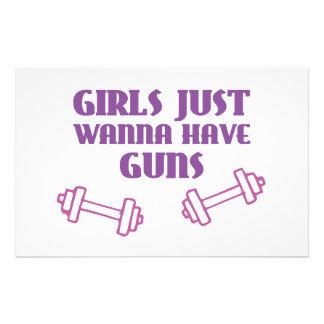 Girls Just Wanna Have Guns Personalized Stationery