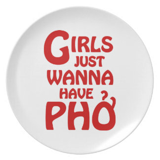 Girls Just Wanna Have Phở Party Plates