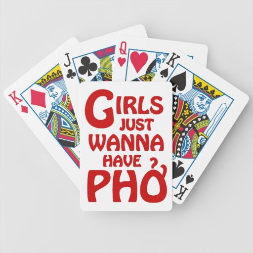 Girls Just Wanna Have Phở Bicycle Card Decks