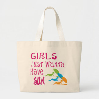 Girls Just Wanna Have Sun Jumbo Tote Bag
