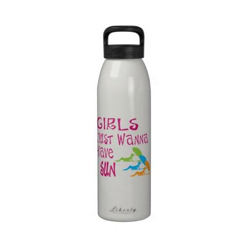 Girls Just Wanna Have Sun Drinking Bottle
