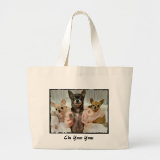 Girls just wanna shop large tote bag