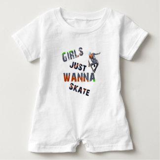 Girls just wanna skate baby bodysuit
