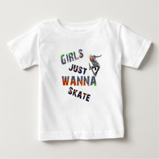 Girls just wanna skate baby T-Shirt