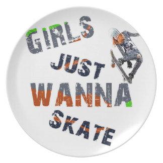 Girls just wanna skate plate