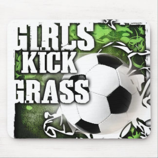 Girls Kick Grass Mouse Pad