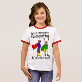 Girl's kids can be heroes charity tshirt