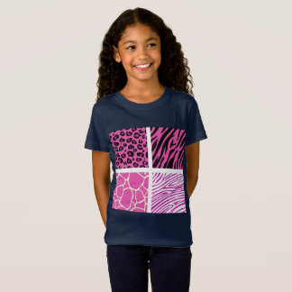 Girls kids t-shirt with Africa pattern