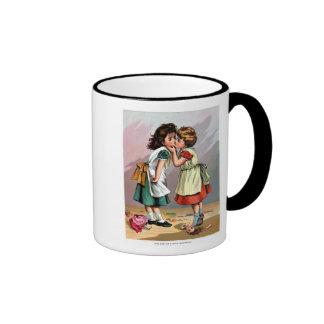 Girls Kissing Mugs