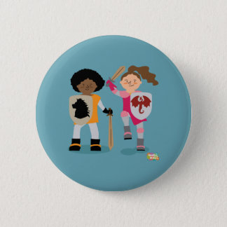 Girls Knight out 6 Cm Round Badge