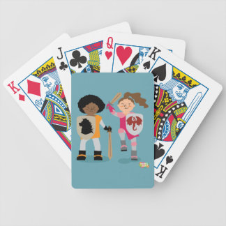 Girls Knight out Bicycle Playing Cards