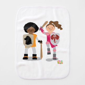 Girls Knight out Burp Cloth