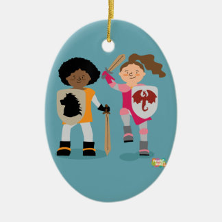 Girls Knight out Ceramic Ornament
