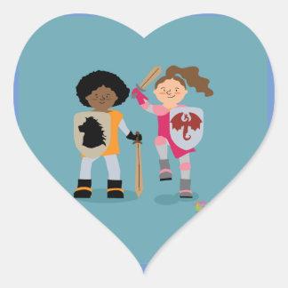 Girls Knight out Heart Sticker