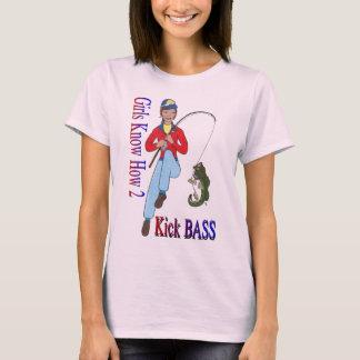 Girls Know How 2 Kick Bass T-Shirt
