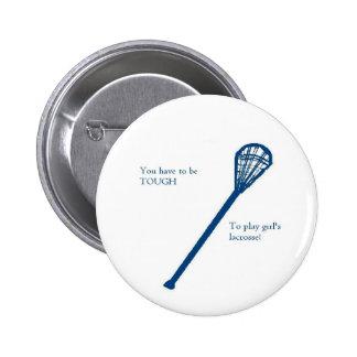 Girls lacrosse pinback button