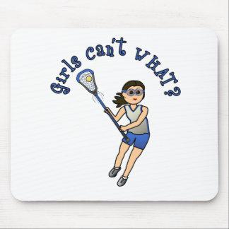 Girls Lacrosse Blue Mouse Pad
