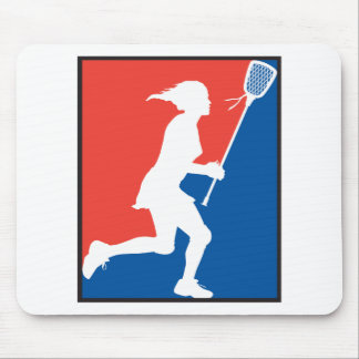 Girl's Lacrosse Mouse Pad