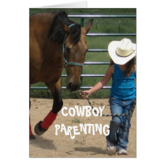 Girls & Leadership - Cowboy Parenting Card