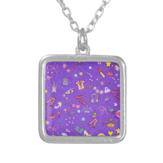 Girls Life lilac Silver Plated Necklace