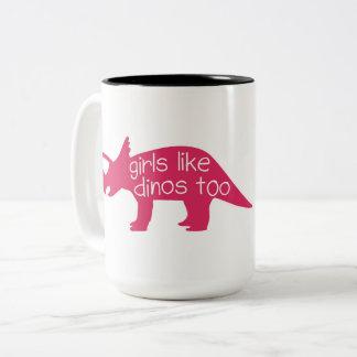 Girls Like Dinos Too - Mug