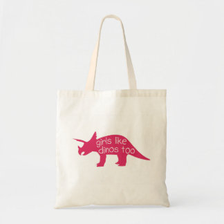 Girls Like Dinos Too - Tote Bag