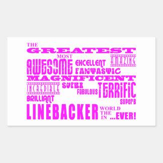 Girls Linebackers : Pink Greatest Linebacker Rectangular Sticker