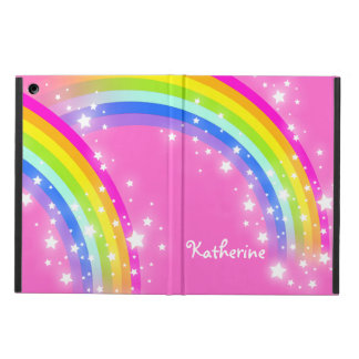 Girls long name rainbow pink ipad air powis case