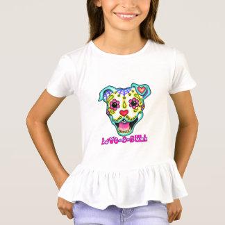 GIRLS LOVE A BULL RUFFLE Proud Pitbull Sister T-Shirt