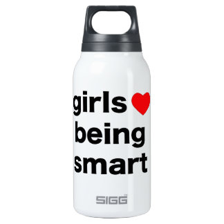 Girls Love Being Smart 0.3L Insulated SIGG Thermos Water Bottle