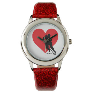 Girls Love Heart Hockey Watch