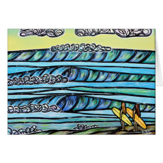 Girls Love to Surf Greeting Card