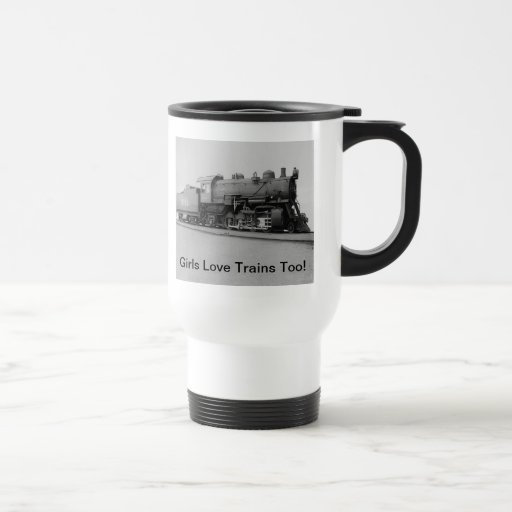 Girls Love Trains Too! Vintage Steam Engine Train Mug