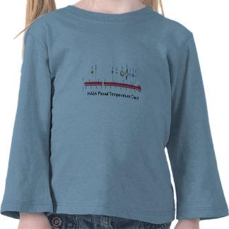 Girls LS T / NASA Planet Temperature Chart Tshirt
