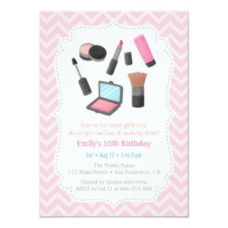 Girls Makeover Birthday Party Invitations