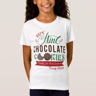 Girls Mint Chocolate Cookies Shirt Custom
