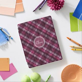 Girl's Modern Pink Plaid iPad Cover