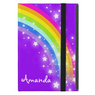 Girls name rainbow purple ipad air powis case