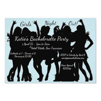 Girls Night Out Bachelorette Party Card